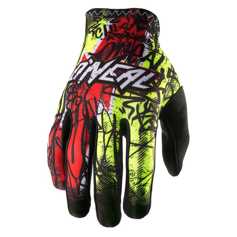 Мотокрос ръкавици O'NEAL MATRIX VANDAL HI-VIZ RED