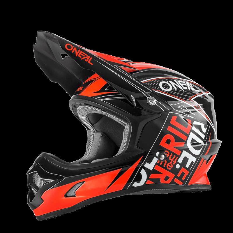 Мотокрос каска O'NEAL 3SERIES FUEL BLACK/RED