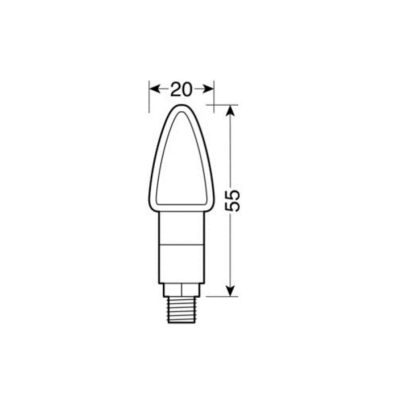 LED мигачи ATOM BLACK – 90101 thumb