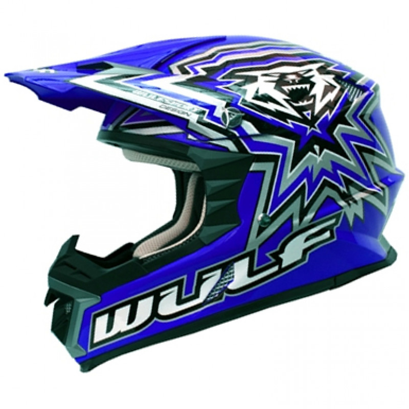 Мотокрос каска WULFSPORT LIBRE X BLUE