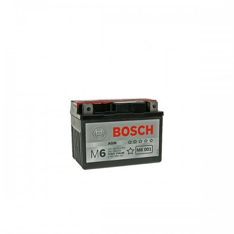 Мото акумулатор Bosch М6 3 Ah, 12 V, YT4L-BS