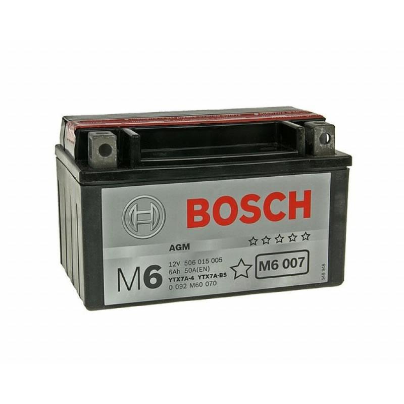 Мото акумулатор Bosch М6 6 Ah, 12 V, YTX7A-BS