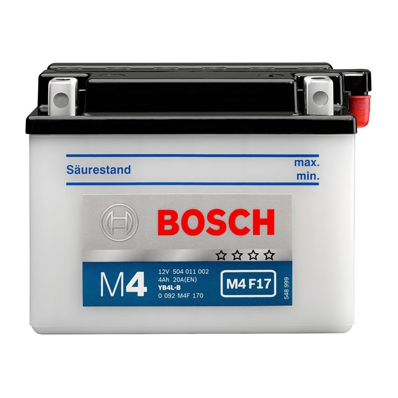 Акумулатор Bosch 4 Ah, 12 V, M4 - YB4L-B thumb