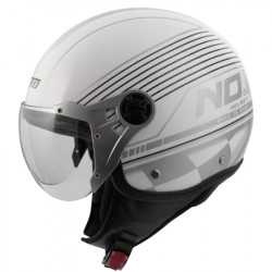 Скутер каска A-PRO FIFTY GRAPHIC WHITE/SILVER