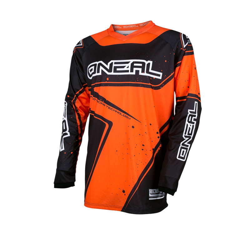 Мотокрос блуза O'NEAL ELEMENT RACEWEAR BLACK/ORANGE