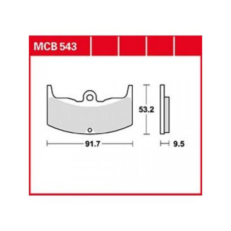 Мото накладки TRW MCB543 thumb