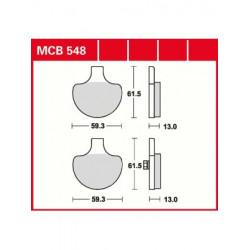 Мото накладки TRW MCB548