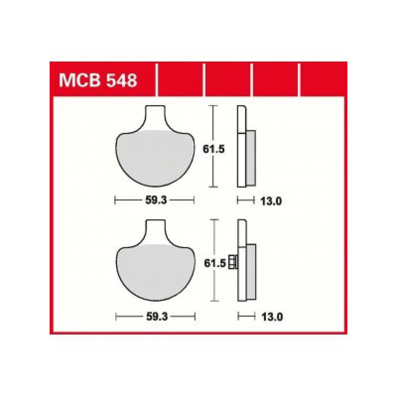 Мото накладки TRW MCB548 thumb