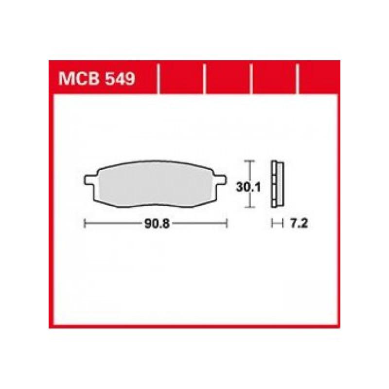 Мото накладки TRW MCB549SI thumb
