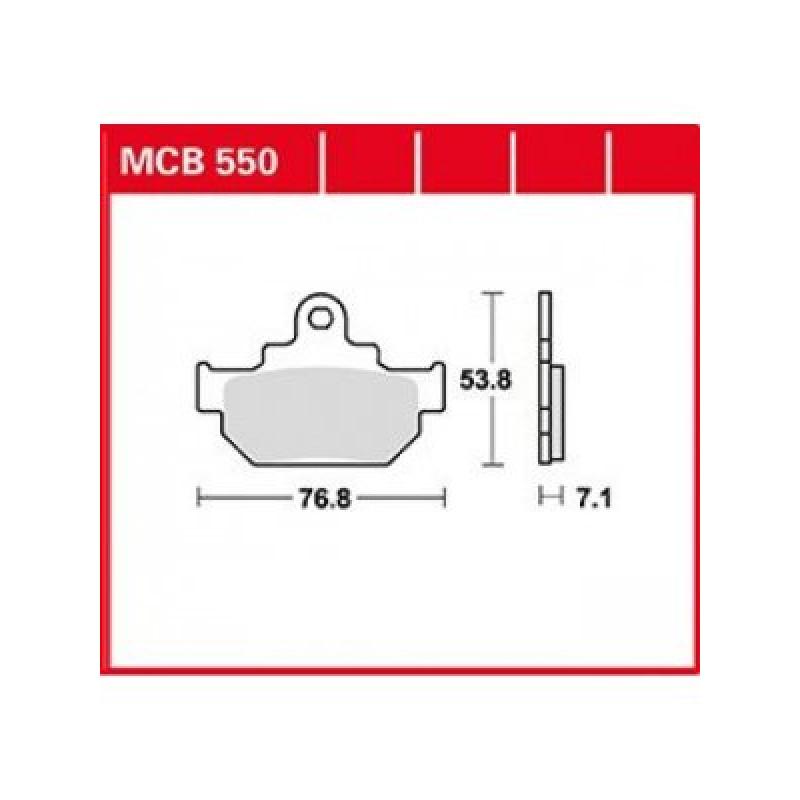 Мото накладки TRW MCB550 thumb