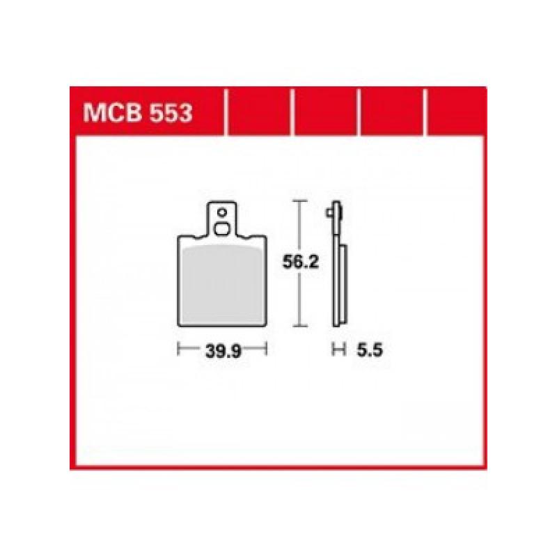 Мото накладки TRW MCB553 thumb