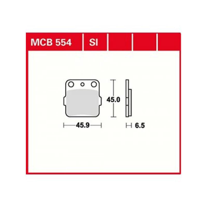 Мото накладки TRW MCB554SI thumb
