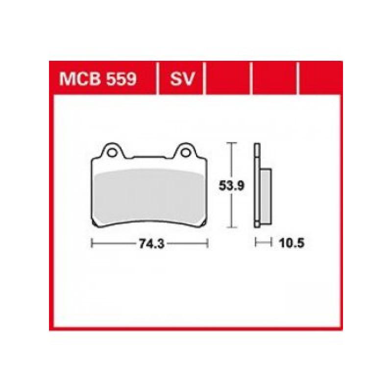 Мото накладки TRW MCB559SV thumb