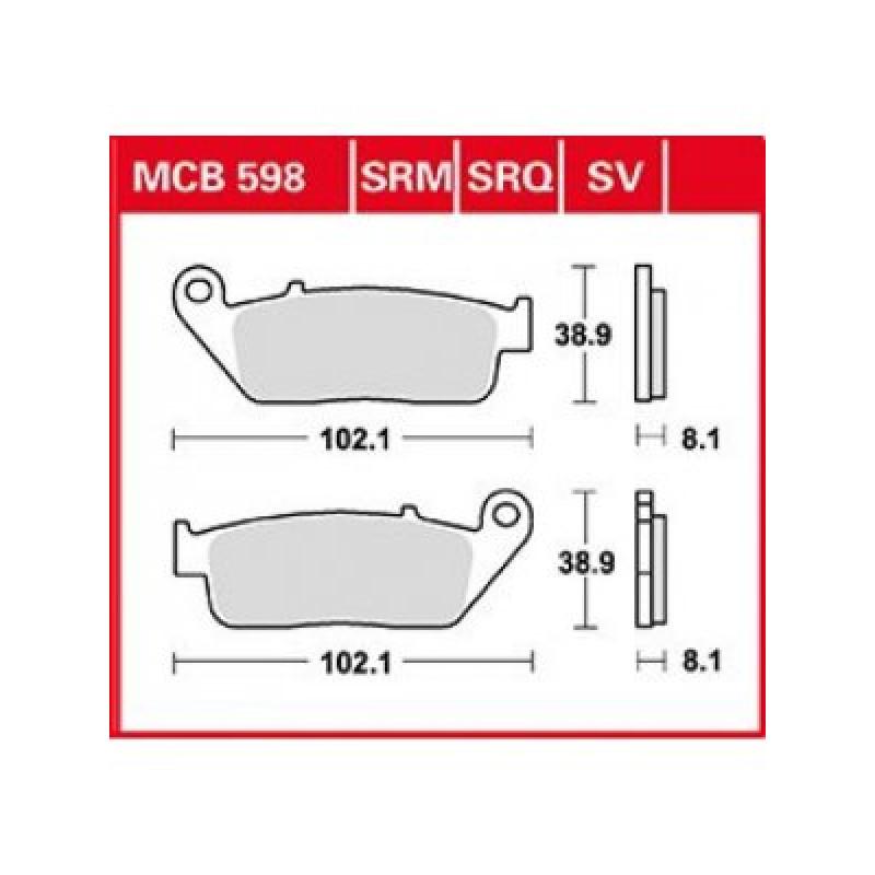 Мото накладки TRW MCB598SRM thumb