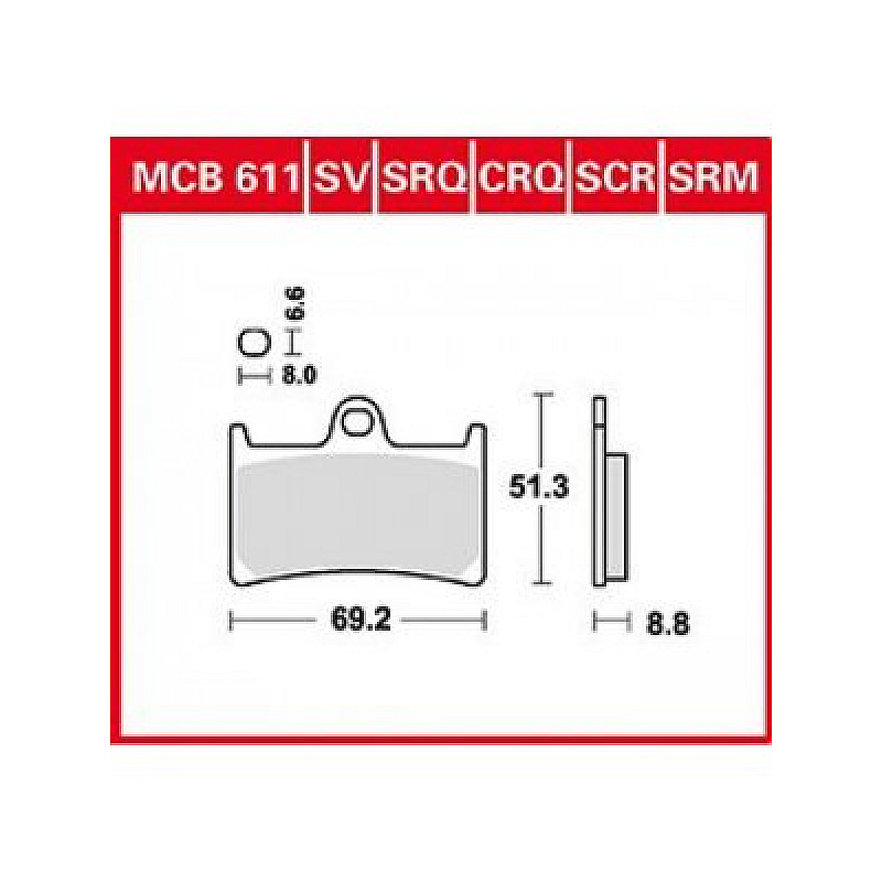 Мото накладки TRW MCB611SCR thumb