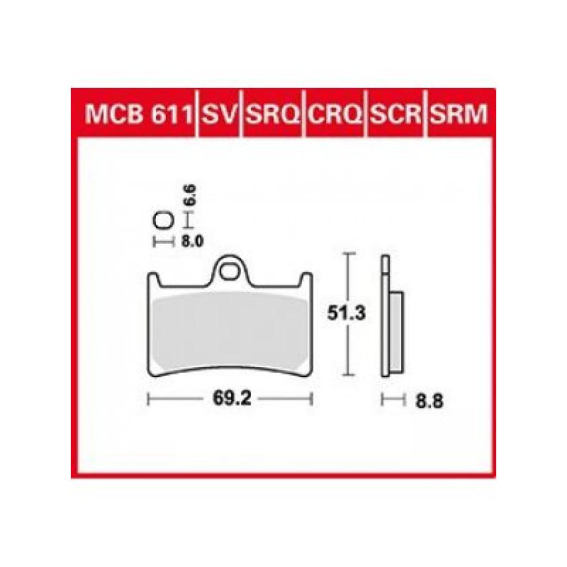 Мото накладки TRW MCB611SV thumb