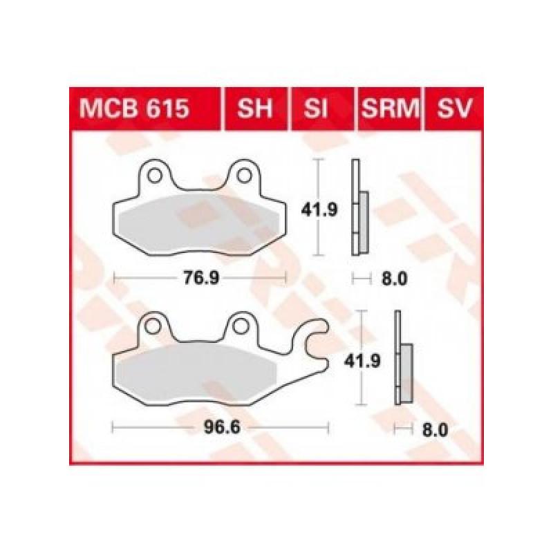 Мото накладки TRW MCB615SI thumb