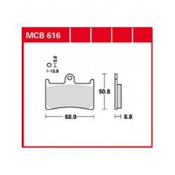 Мото накладки TRW MCB616
