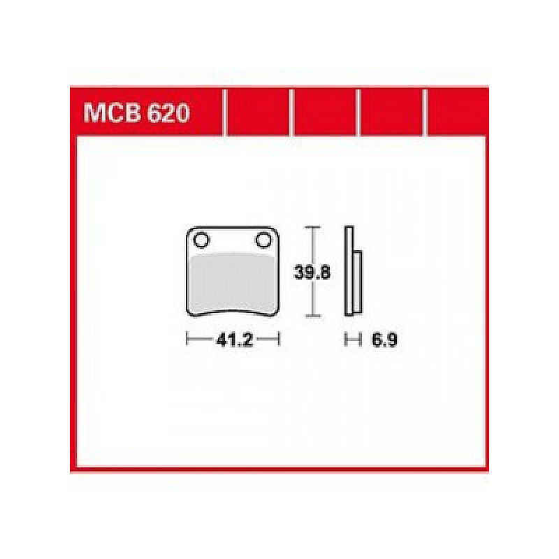 Мото накладки TRW MCB620 thumb