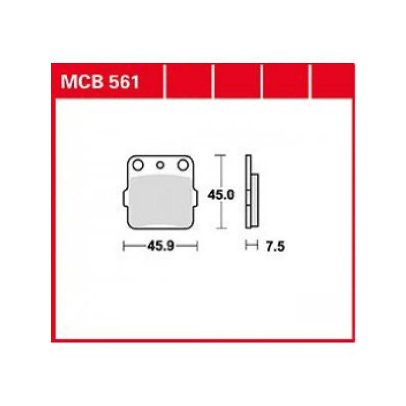 Мото накладки TRW MCB561SI thumb
