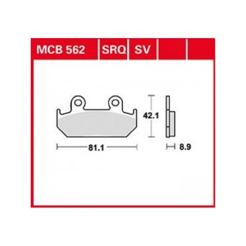 Мото накладки TRW MCB562SRQ thumb