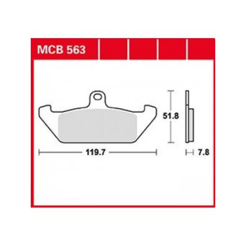 Мото накладки TRW MCB563 thumb