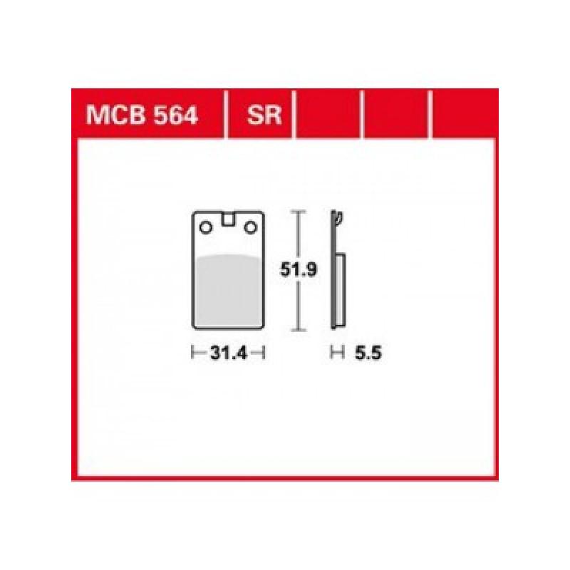 Мото накладки TRW MCB564SR thumb