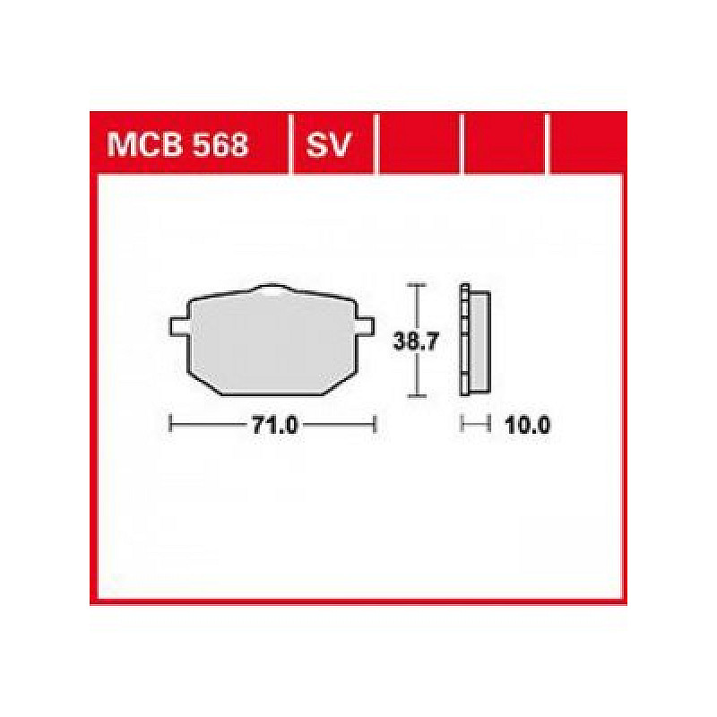 Мото накладки TRW MCB568SV thumb