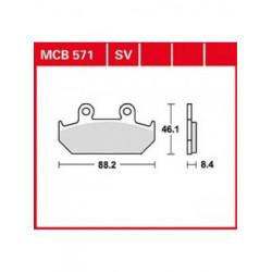 Мото накладки TRW MCB571SV