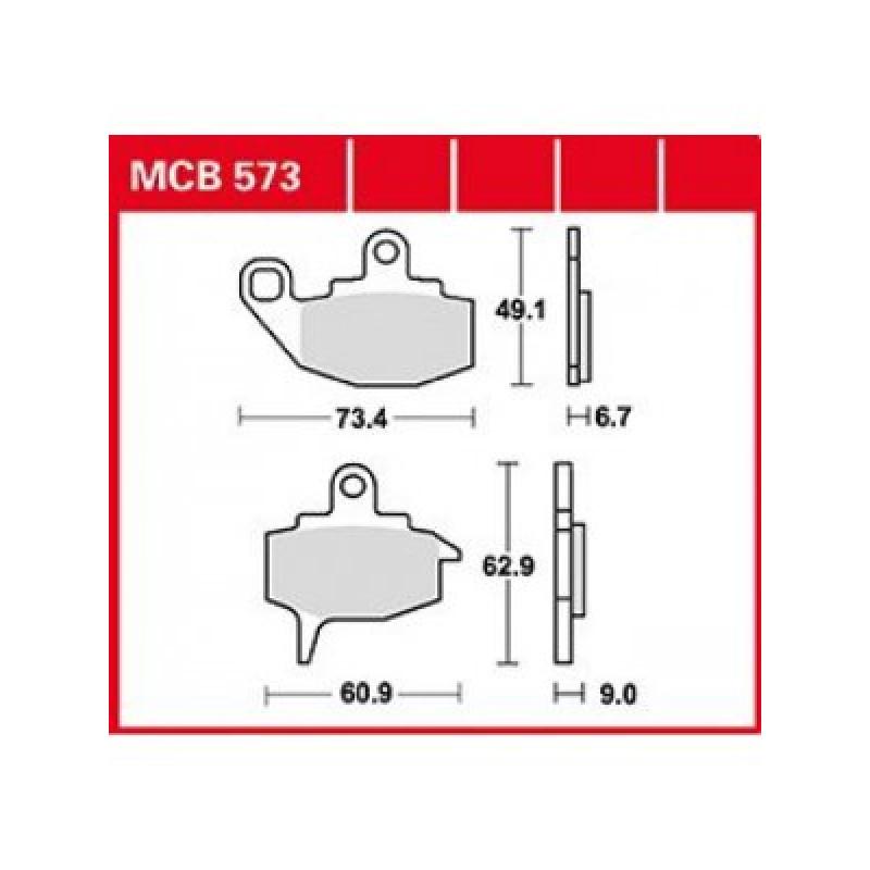 Мото накладки TRW MCB573 thumb
