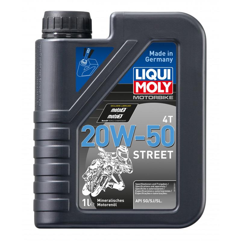 Минерално масло за мотоциклети LIQUI MOLY STREET SAE 20W-50 - 1 литър