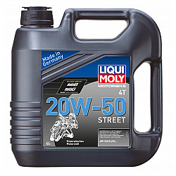 Моторно масло за 4-тактови мотоциклети LIQUI MOLY  20W-50 STREET