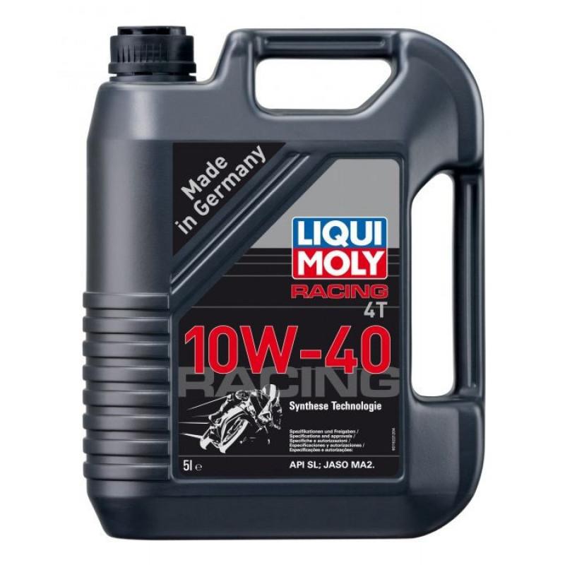 Полусинтетично масло за мотоциклети LIQUI MOLY RACING SAE 10W-40 - 5 литра