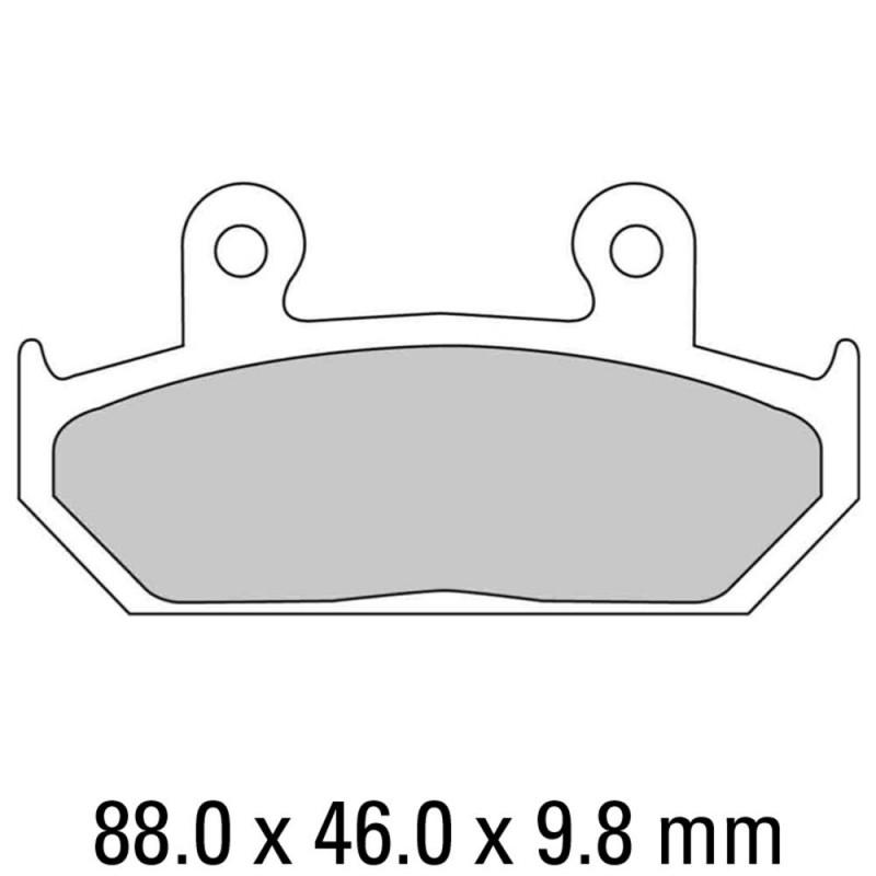 Накладки FERODO FDB663P