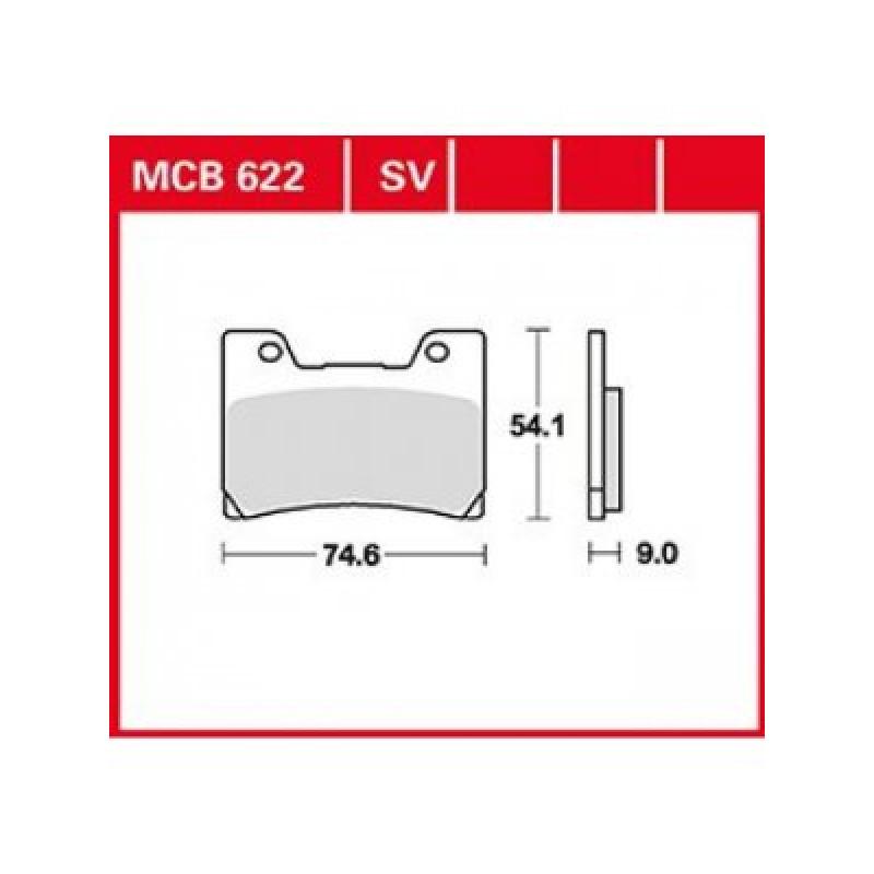Мото накладки TRW MCB622SV thumb