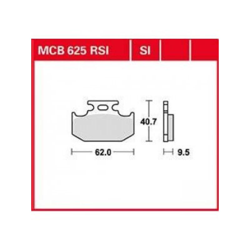 Мото накладки TRW MCB625SI thumb