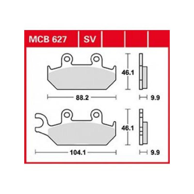 Мото накладки TRW MCB627SV thumb