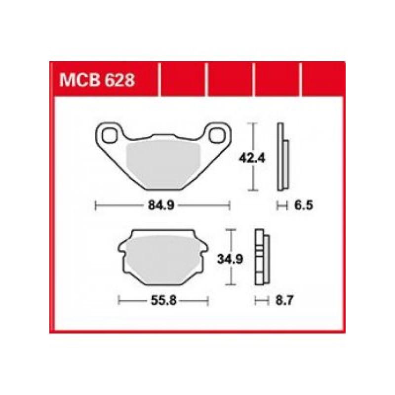 Мото накладки TRW MCB628