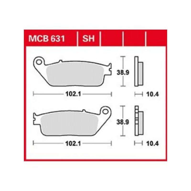 Мото накладки TRW MCB631SH thumb