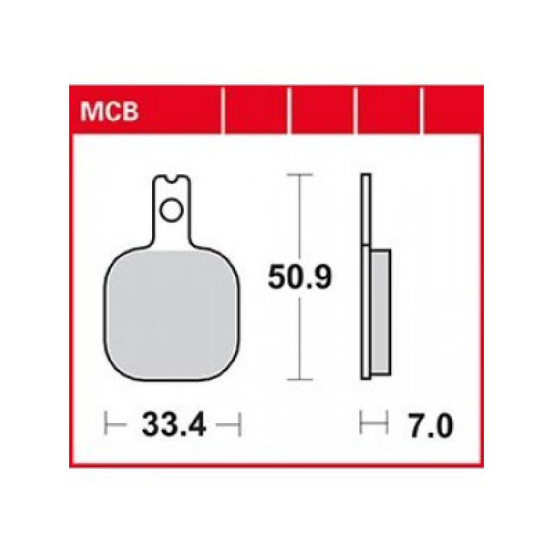 Мото накладки TRW MCB633RQ thumb