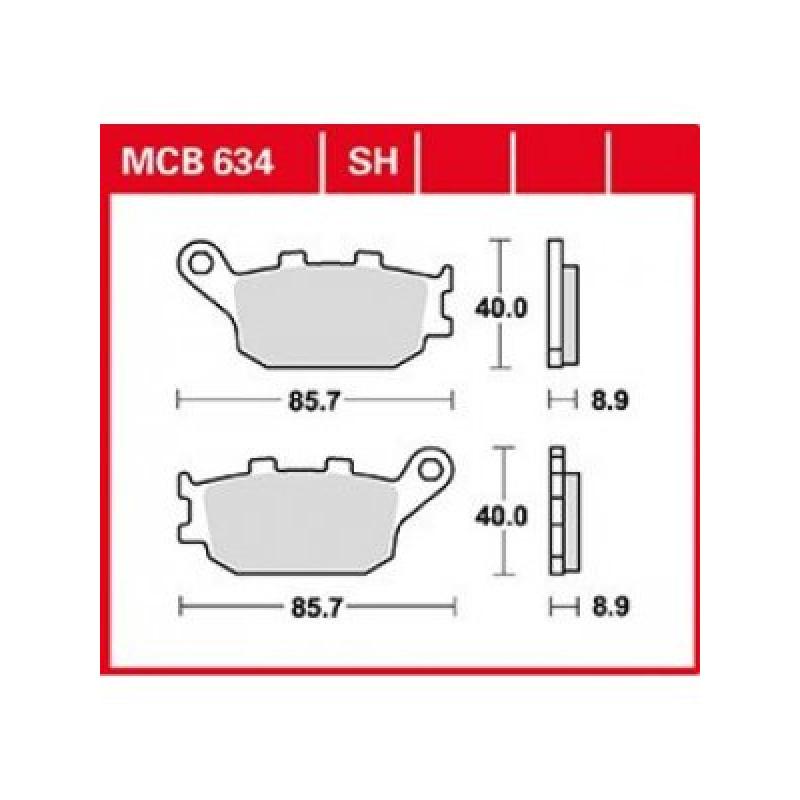 Мото накладки TRW MCB634SH thumb