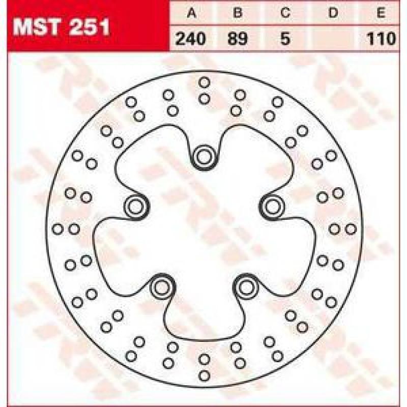 ЗАДЕН СПИРАЧЕН ДИСК TRW-LUCAS MST251