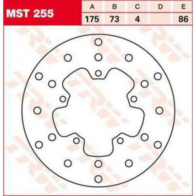 ЗАДЕН СПИРАЧЕН ДИСК TRW-LUCAS MST255