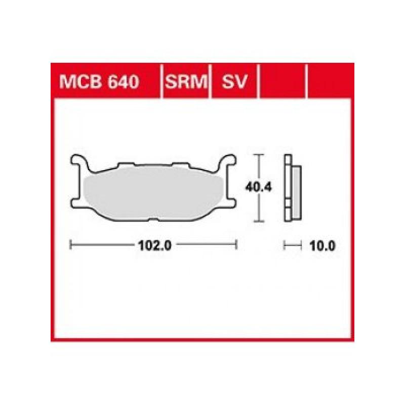 Мото накладки TRW MCB640 thumb