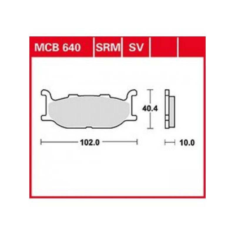 Мото накладки TRW MCB640SV thumb