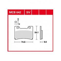 Мото накладки TRW MCB642SV