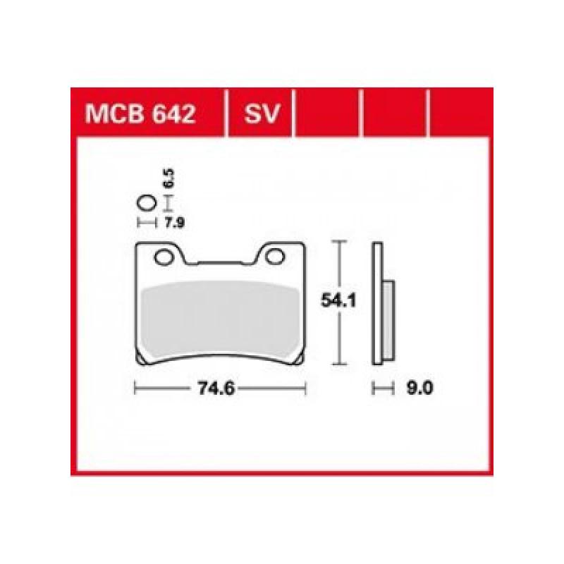 Мото накладки TRW MCB642SV thumb