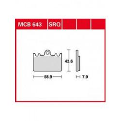 Мото накладки TRW MCB643SRQ