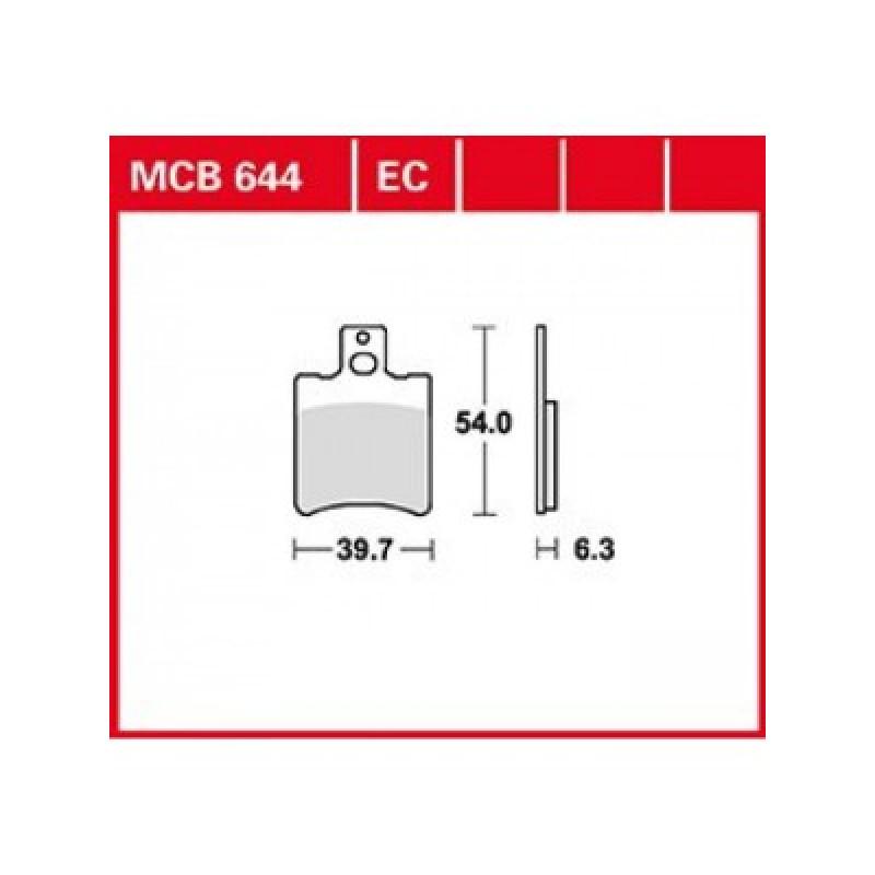 Мото накладки TRW MCB644EC thumb