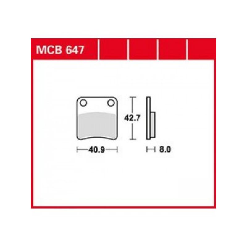 Мото накладки TRW MCB647 thumb